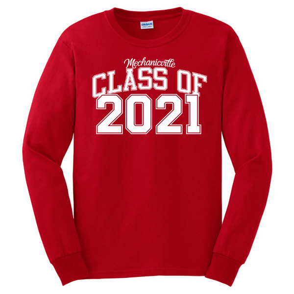 Mechanicville Class of 2021 Long Sleeve Tee- Youth & Adult, 2 Colors