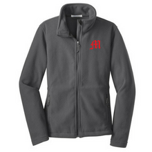 Load image into Gallery viewer, Mechanicville Baseball Full Zip Fleece- Youth, Ladies, & Men's, 3 Colors
