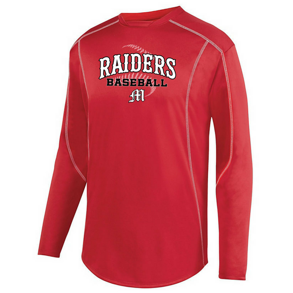 Mechanicville Baseball Long Sleeve Performance Pullover- Youth & Adult, 3 Colors