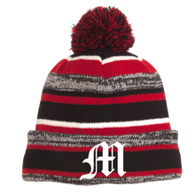 Load image into Gallery viewer, Mechanicville Baseball Pom-Pom Beanie- 2 Colors