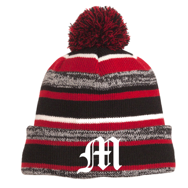Mechanicville Baseball Pom-Pom Beanie- 2 Colors