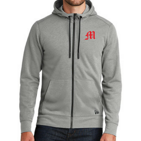 Mechanicville Baseball Tri-Blend Full Zip Hoodie- Ladies & Men's, 2 Colors