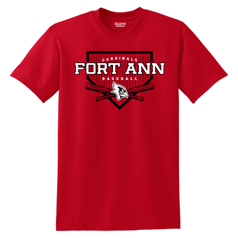 Fort Ann Baseball Cotton Tee- Youth & Adult, 3 Colors