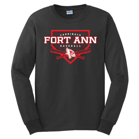 Fort Ann Baseball Long Sleeve Tee- Youth & Adult, 2 Colors