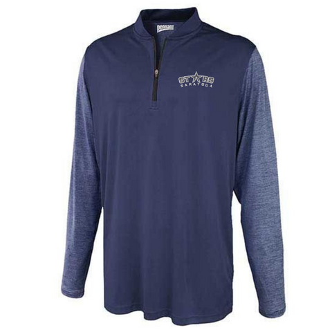 Saratoga Stars Two-Tone Lightweight 1/4 Zip- Youth & Adult, 2 Colors