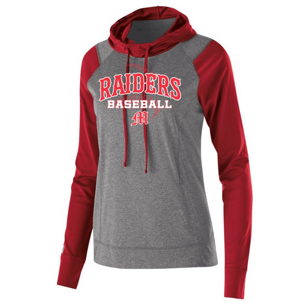 Mechanicville Baseball Two-Tone Hooded Performance Long Sleeve- Ladies & Men's, 2 Colors