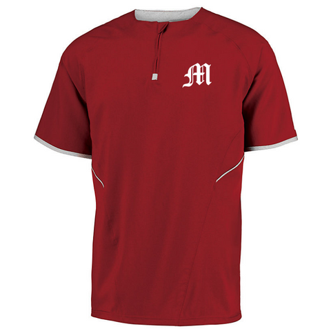 Mechanicville Baseball Short Sleeve 1/4 Zip Performance Pullover- Youth & Adult, 2 Colors