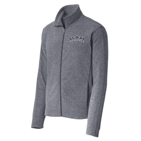 Saratoga Stars Heathered Full Zip Micro-Fleece- Ladies & Men's, 2 Colors