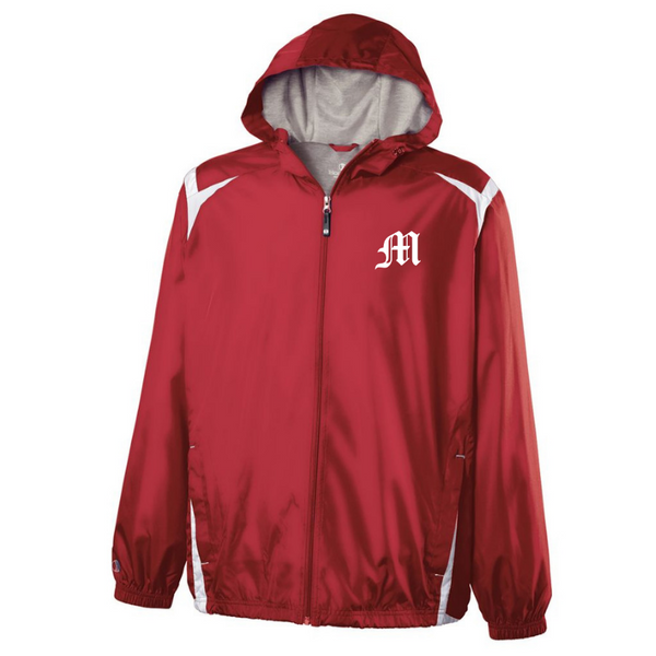 Mechanicville Baseball Hooded Full Zip Lightweight Jacket- Youth & Adult, 2 Colors
