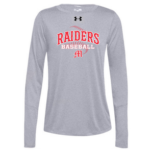 Mechanicville Baseball Under Armour Long Sleeve Performance Tee- Ladies & Men's, 3 Colors