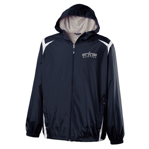 Saratoga Stars Hooded Full Zip Lightweight Jacket- Youth & Adult, 2 Colors