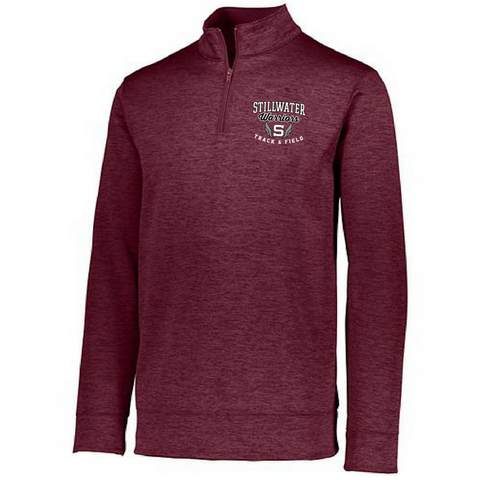 Stillwater Track & Field 1/4 Zip Performance Pullover- Ladies & Men's, 3 Colors