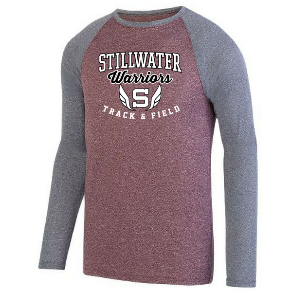 Stillwater Track & Field Two-Tone Long Sleeve Performance Shirt- Ladies & Men's