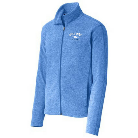 Hoosic Valley Indians Heathered Full Zip Fleece- Ladies & Men's, 2 Colors