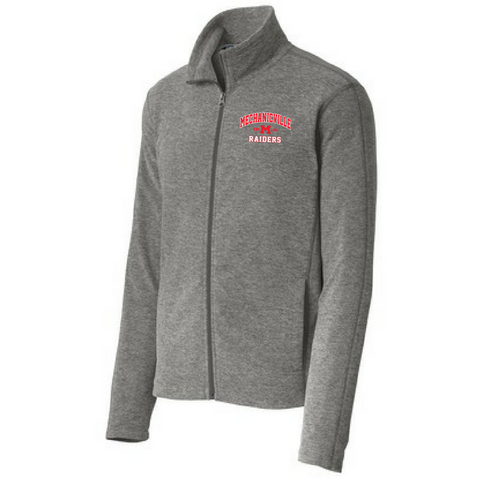 Mechanicville Red Raiders Heathered Full Zip Fleece- Ladies & Men's, 2 Colors