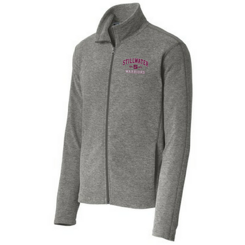 Stillwater Warriors Heathered Full Zip Fleece- Ladies & Men's, 2 Colors