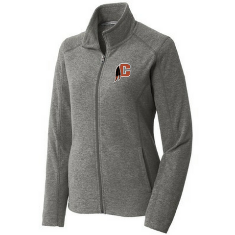Cambridge Indians Heathered Full Zip Fleece- Ladies & Men's, 2 Colors