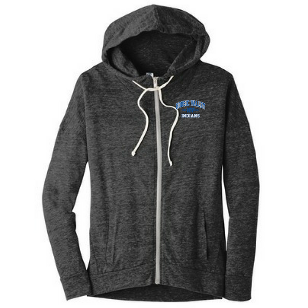 Hoosic Valley Indians Ladies Lightweight Full-Zip Hoodie- 2 Colors