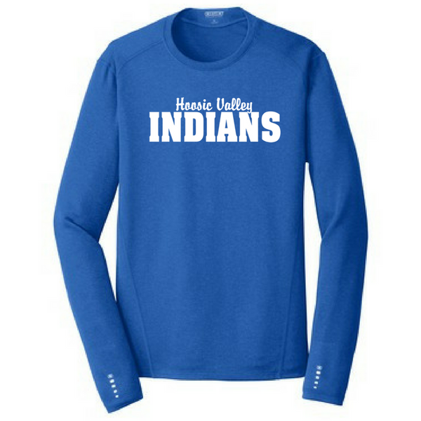 Hoosic Valley Indians Long Sleeve Reflective Accent Performance Shirt- Ladies & Men's, 2 Colors