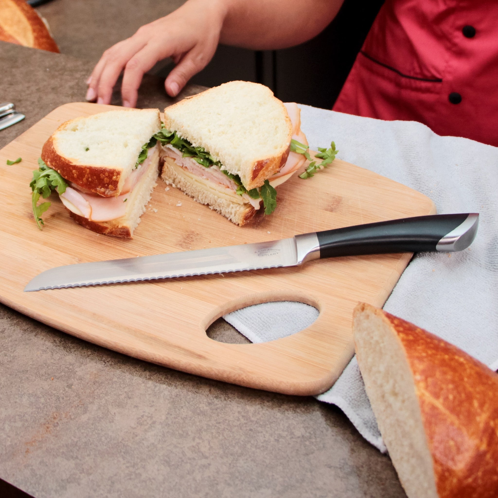 8 Inch Stainless Steel Serrated Bread Knife