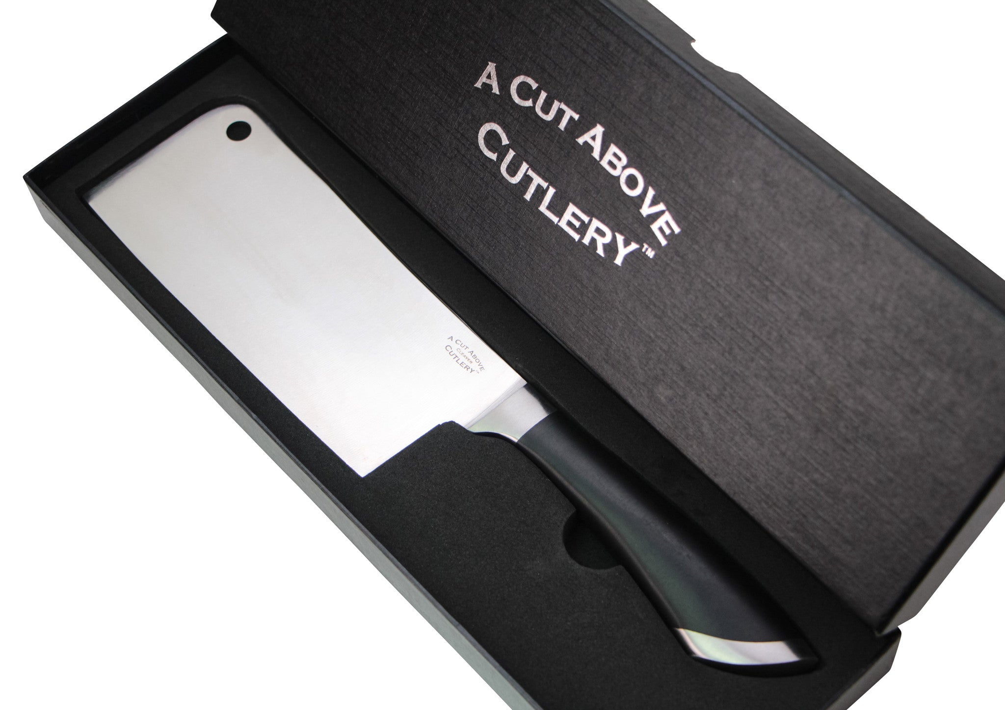 A Cut Above Cutlery Cleaver For Meat And Vegetables Chop, Butcher At Home Like A Professional, Safe and Comfortable Handle Can Not Come Loose, 7 Inch Stainless Steel Blade Keeps Food Tasting Fresh