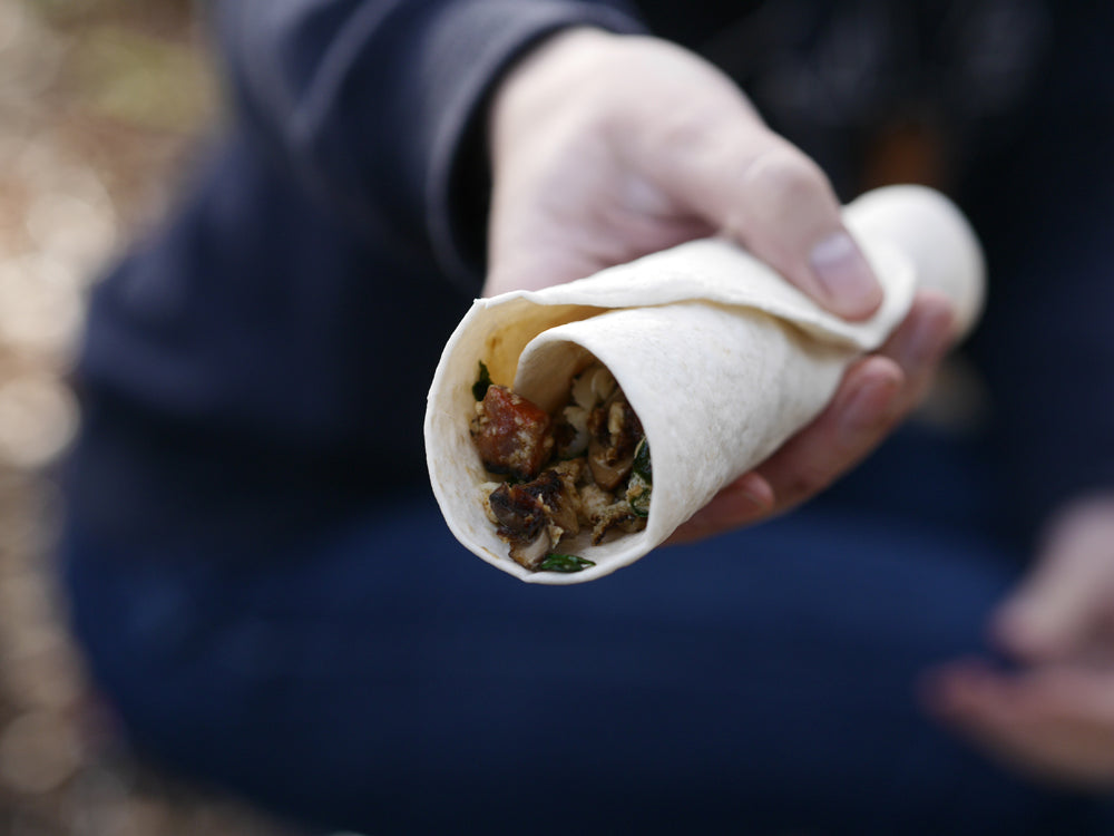 rolled burrito ready to eat
