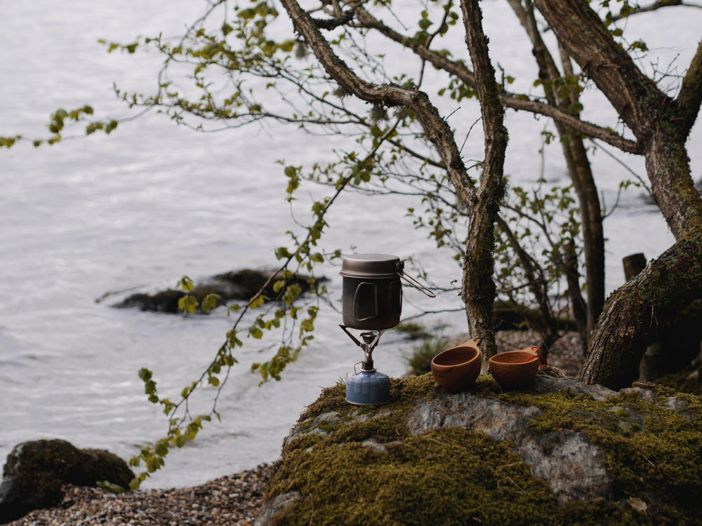 Morning coffee at by the side of Loch Lomond
