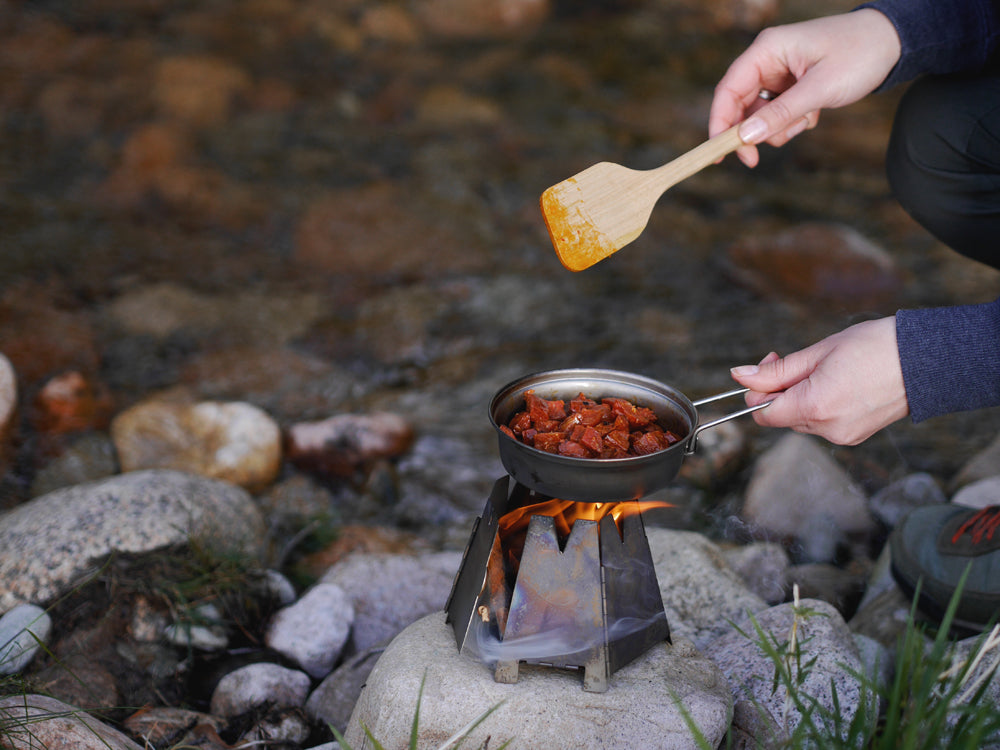 Cooking by the riverbank