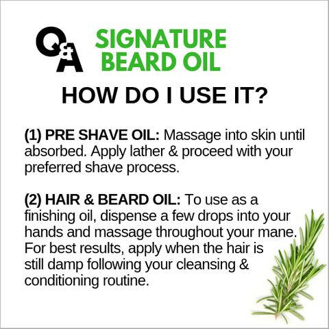 BODYTRUTH brand beard oil instructions