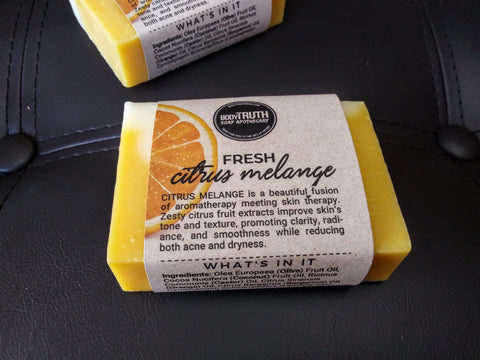 Bodytruth Soap Apothecary in downtown Lawrence Kansas | Citrus infused, hydrating handmade olive oil bar.
