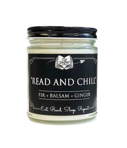 Read and Chill, 9 oz Glass  Soy Candle