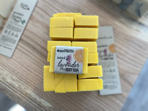 Bodytruth Soap Apothecary in Lawrence, Kansas | Twisted Lavender Face & Body Bar Soap