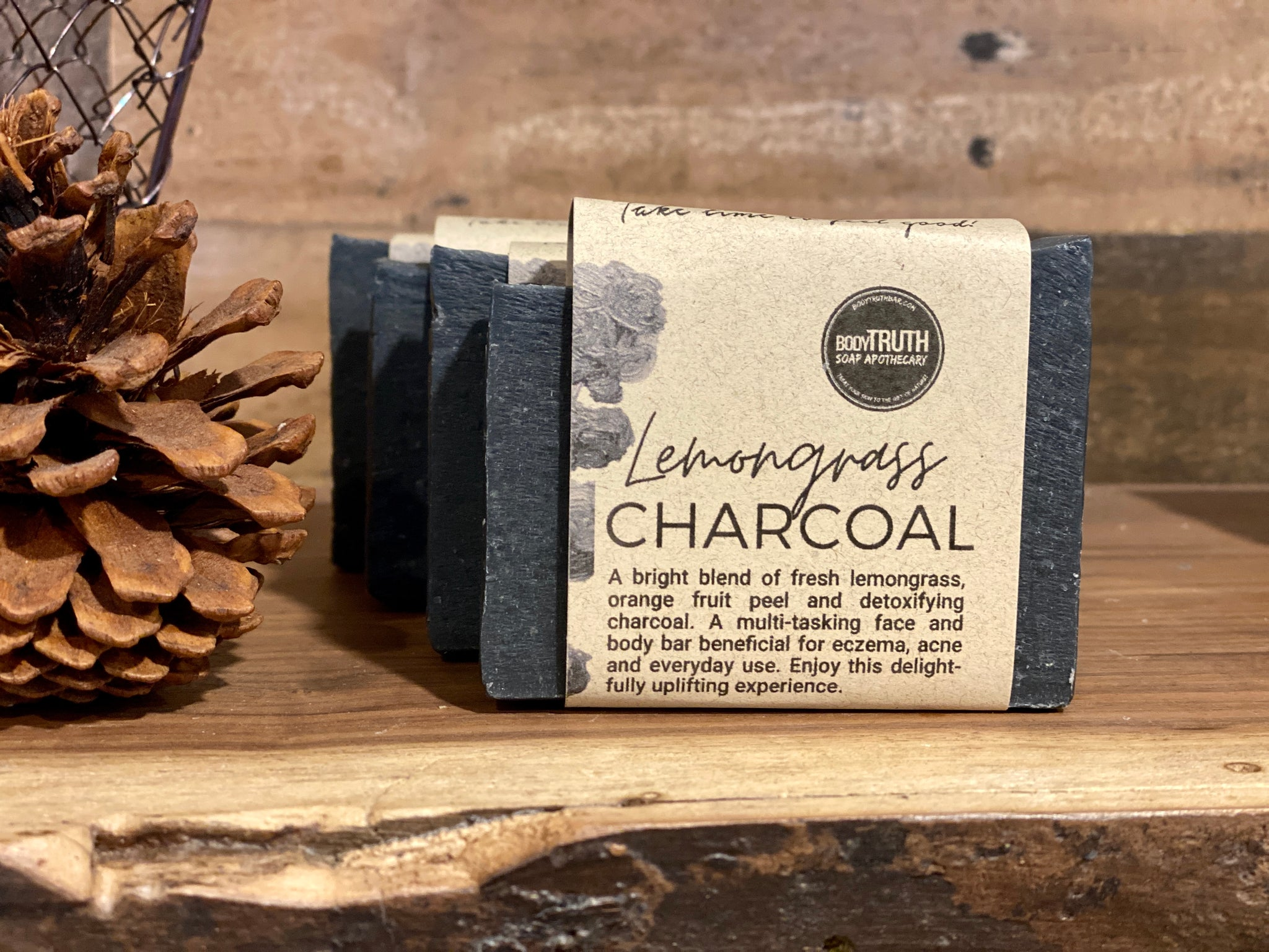 LEMONGRASS CHARCOAL, Face & Body Bar