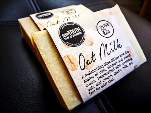 Bodytruth Soap Apothecary in Lawrence Kansas offers soaps with soothing oats and goat's milk