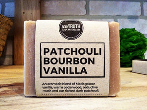 PATCHOULI BOURBON VANILLA, Bar Soap - Bodytruth Soap Apothecary