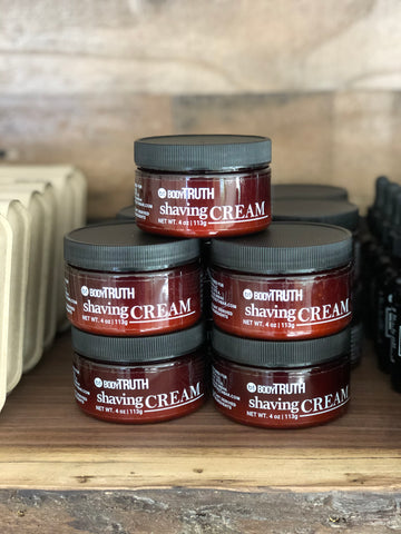 BODYTRUTH shaving cream in downtown lawrence. Handmade facial care. BODYTRUTHLawrence. Locally made.