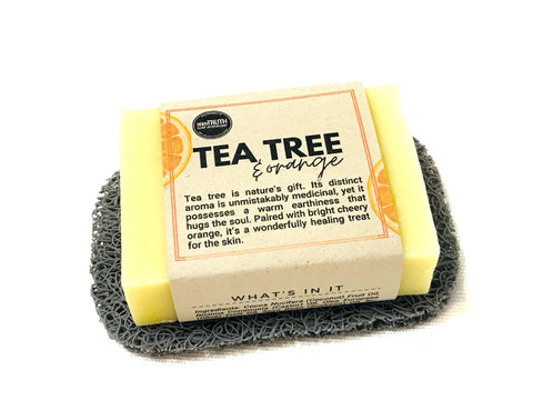 TEA TREE & Orange, Face & Body Bar - Bodytruth Soap Apothecary