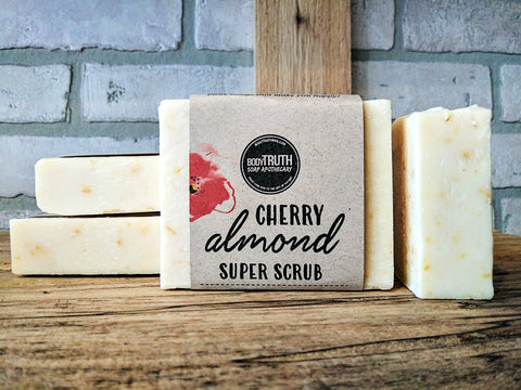 CHERRY ALMOND SCRUB, Face & Body Bar