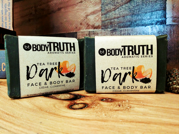 Bodytruth Soap Apothecary in Lawrence Kansas | Tea Tree & Charcoal Bar