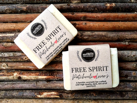 Bodytruth Soap Apothecary Free Spirit Bar soap with Patchouli essential oil