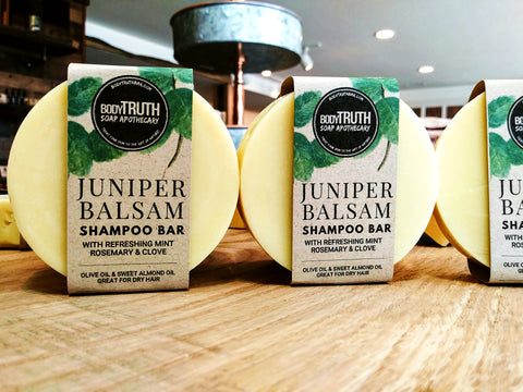 Juniper Balsam Shampoo Bars - Bodytruth Soap Apothecary in Lawrence, KS
