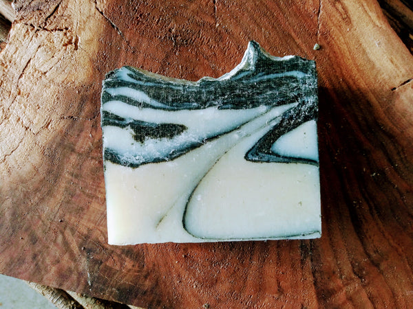 Peppermint Sea Salt Detox | Face & Body Handmade Bar Soap with Charcoal & Sea Salt - Complexion Bar, Local Made, BODYTRUTH SOAP APOTHECARY LAWRENCE, KANSAS