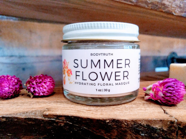 Floral Face Mask, Hydrating Rose Clay - Bodytruth Soap Apothecary in Lawrence, KS