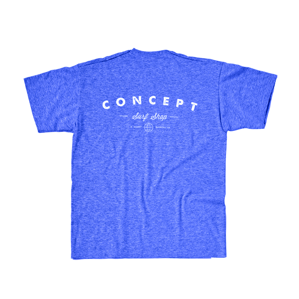Concept Short Sleeve- Concept Original Logo Royal Blue