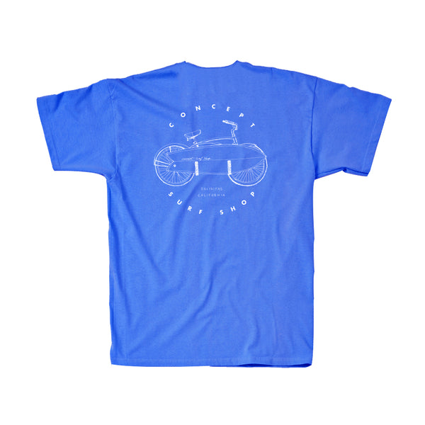 Concept Short Sleeve- Vintage Design Royal Blue