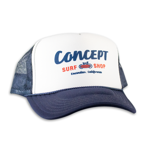 Concept Trucker Hat- Navy Blue