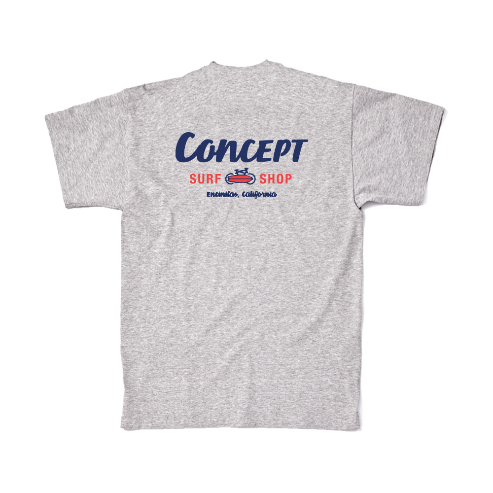 Concept Short Sleeve- The Standard logo design in Navy and Red