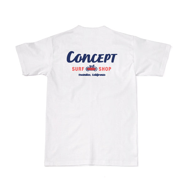 Concept Short Sleeve- White and Red