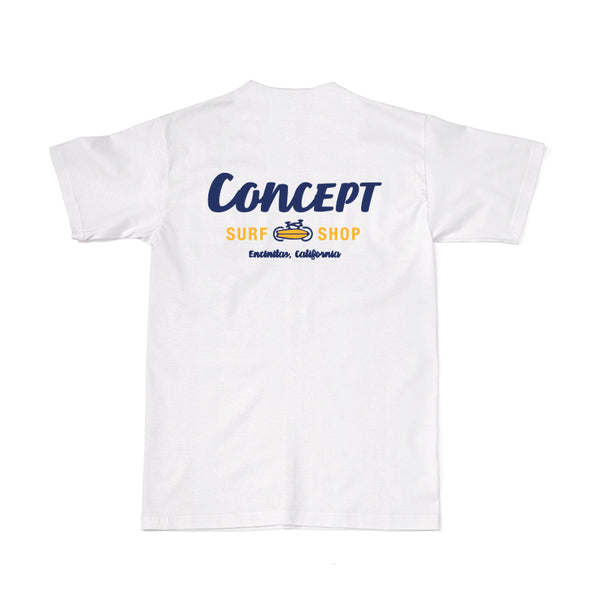 Concept Short Sleeve- White and Yellow