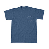Concept Short Sleeve-  Vintage design Navy Blue